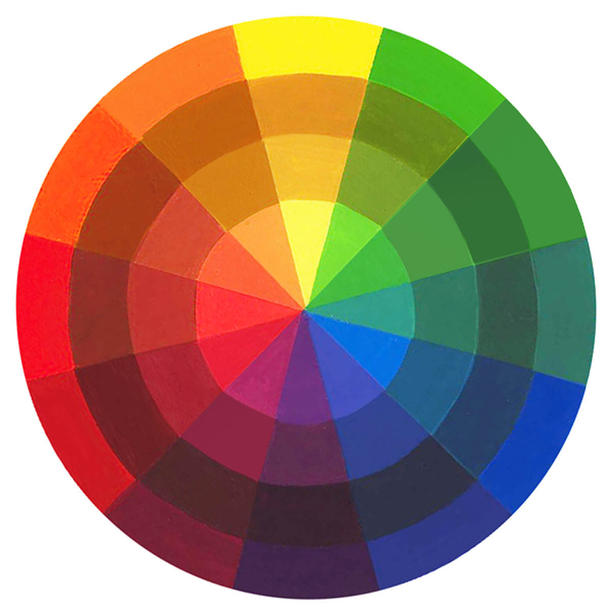 Color study for Picture of colour wheel